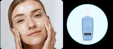 Primer paso: lava tu cara con Fresh Foaming de NEUTROGENA®
