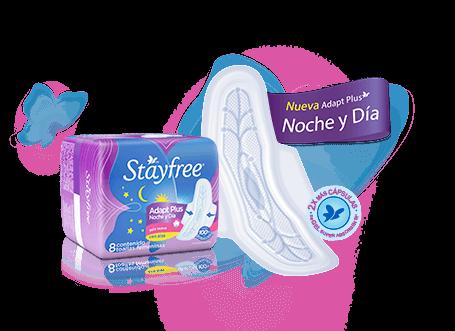 Stayfree® Adapt Plus Noche y Día